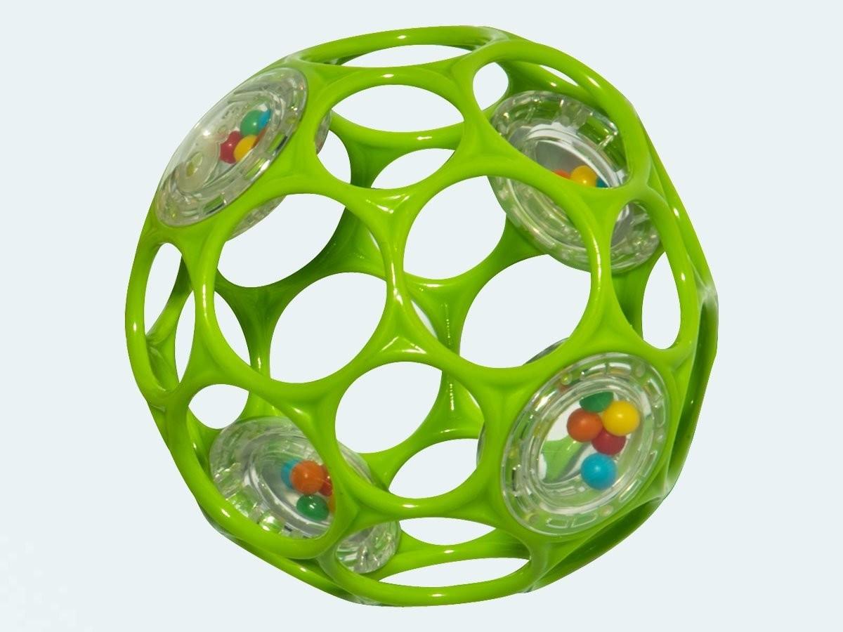 Мячик «Гремящий Oball» от 0 мес.Детские погремушки и подвесные игрушки на кроватку<br>Мячик «Гремящий Oball» от 0 мес.<br>