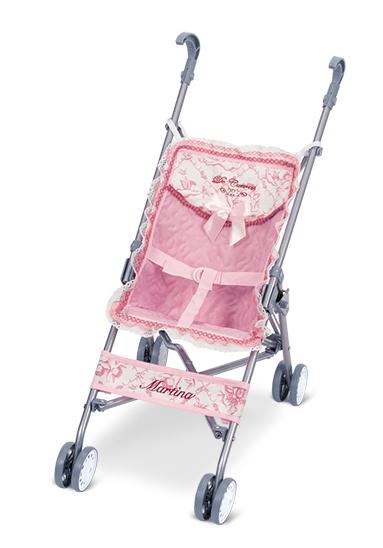 Коляска-трость для кукол – розовая, 56 см
