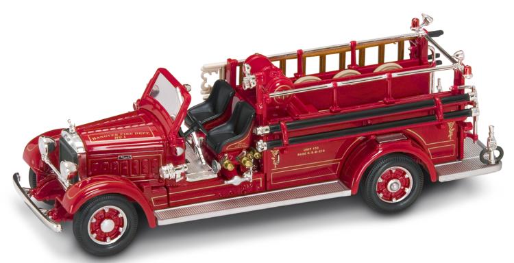 Модель пожарного автомобиля МАК ТАЙП 75BX образца 1935 года, масштаб 1/43Пожарная техника, машины<br>Модель пожарного автомобиля МАК ТАЙП 75BX образца 1935 года, масштаб 1/43<br>