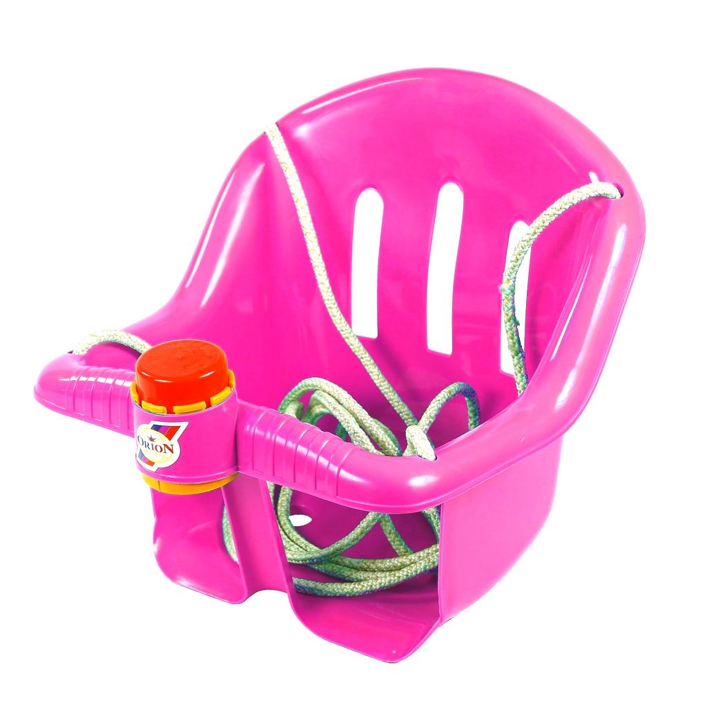 Качели с барьером безопасности и клаксоном розового цвета - Качели, артикул: 159673