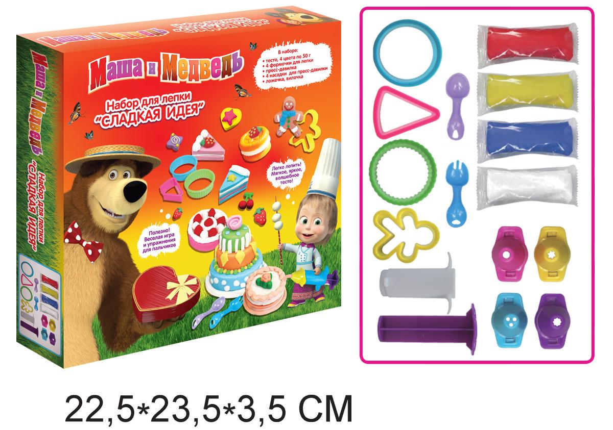 Купить Набор для лепки «Сладкая идея» из серии Маша и Медведь, Росмэн
