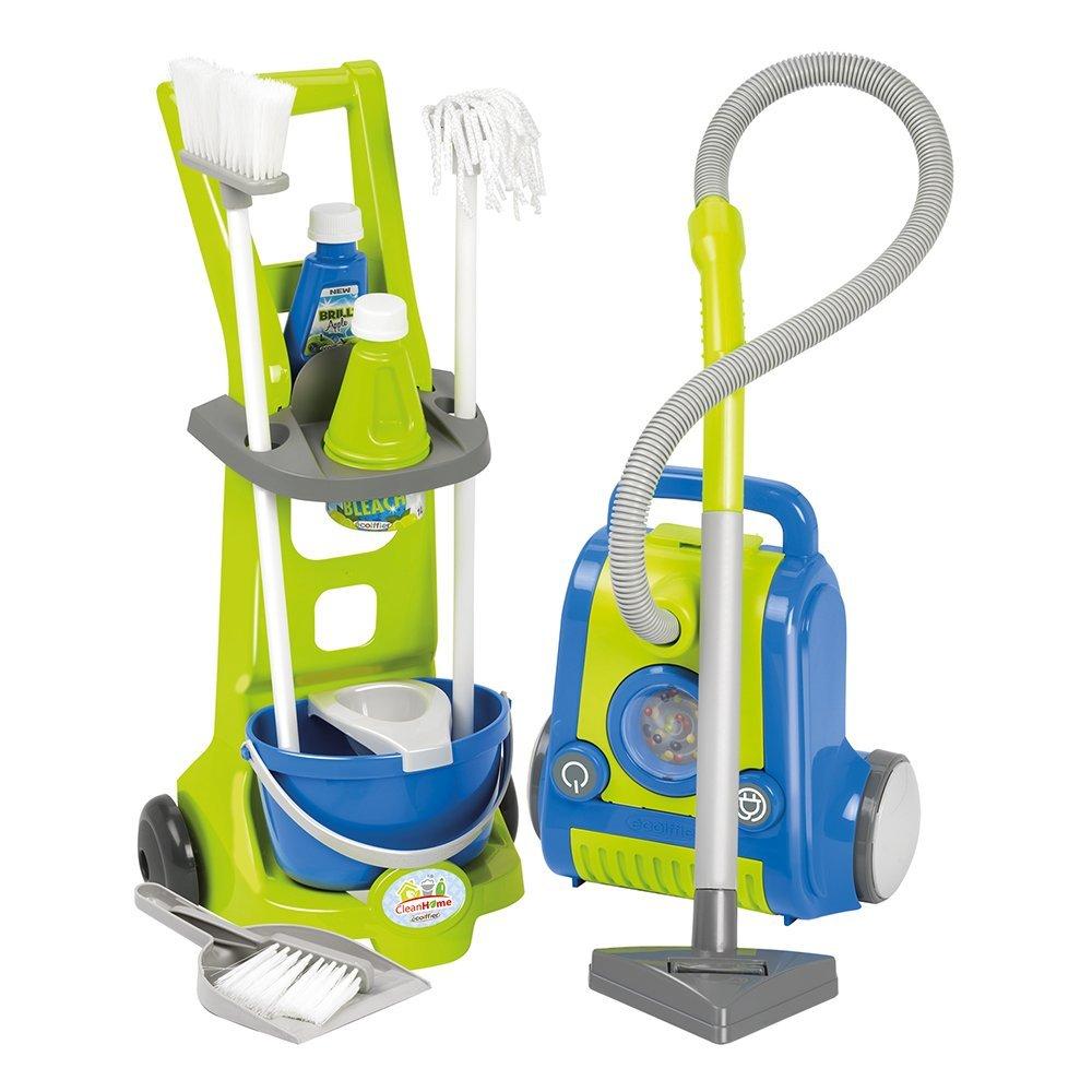 Купить Игровой набор Тележка для уборки с пылесосом, Ecoiffier (Abrick)