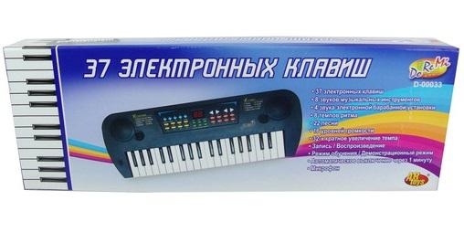 Детский синтезатор с микрофоном, 37 клавиш - Синтезаторы и пианино, артикул: 87565