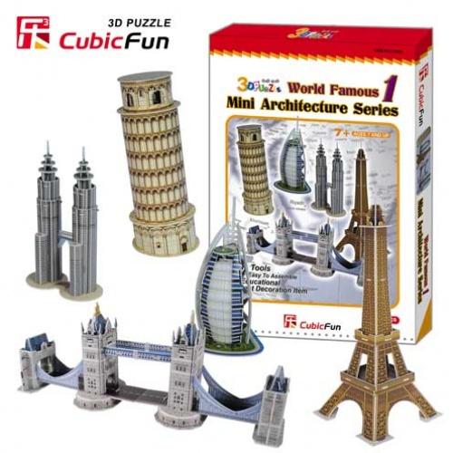 3D puzzles. Игровой набор архитектора 5 в 1Пазлы объёмные 3D<br>3D puzzles. Игровой набор архитектора 5 в 1<br>