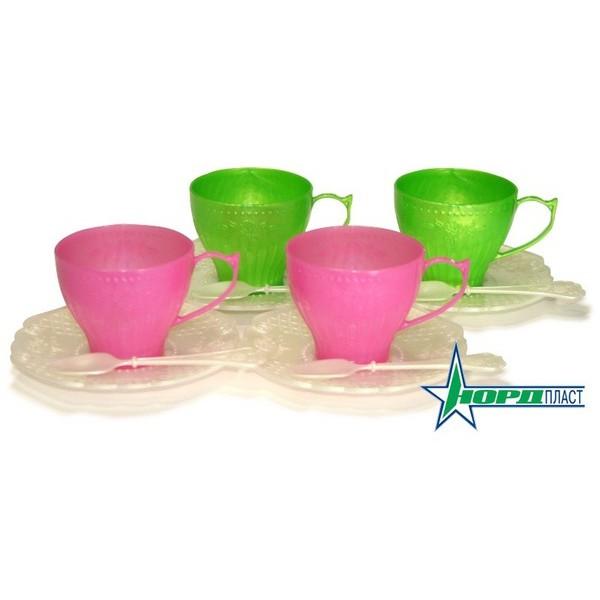 Набор посуды - Чайный сервиз - Волшебная хозяюшка, 12 предметов, Нордпласт  - купить со скидкой