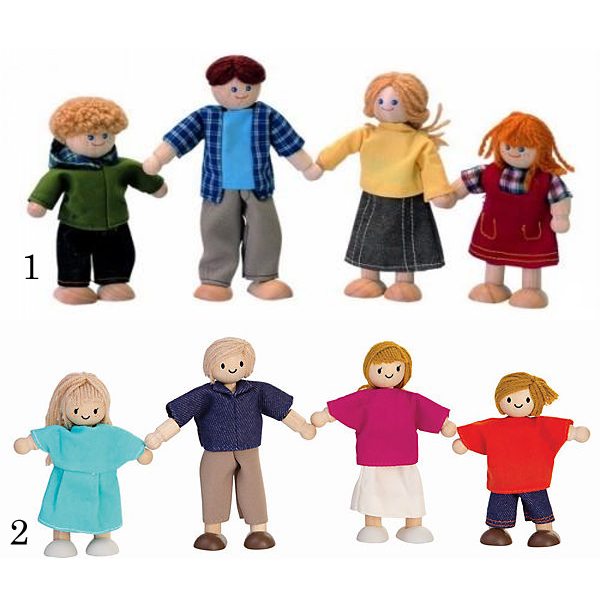 Купить Игровой набор - Кукольная семья, Plan Toys