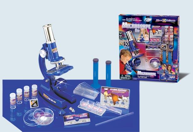 Набор с микроскопом, автоматическое увеличение окуляра 10х-20х, с аксессуарами - 50 предметов от Toyway