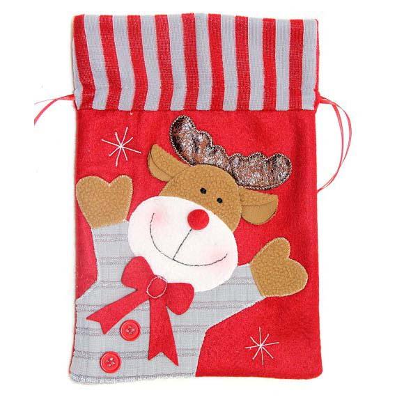 Подарочный мешок, красный, 19 х 28 смПодарочные пакеты<br>Подарочный мешок, красный, 19 х 28 см<br>