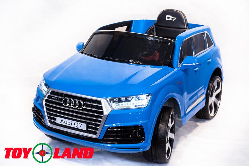 Электромобиль Audi Q7 синийЭлектромобили, детские машины на аккумуляторе<br>Электромобиль Audi Q7 синий<br>