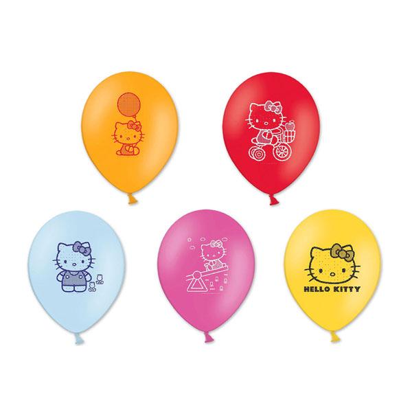 Набор шаров – Hello Kitty, 30 см, 5 штВоздушные шары<br>Набор шаров – Hello Kitty, 30 см, 5 шт<br>