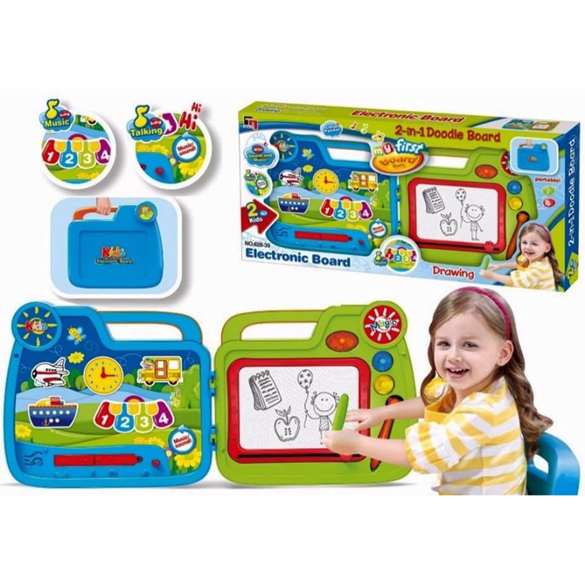 Доска развивающая 2 в 1 - Kids Magic, звукМольберты<br>Доска развивающая 2 в 1 - Kids Magic, звук<br>