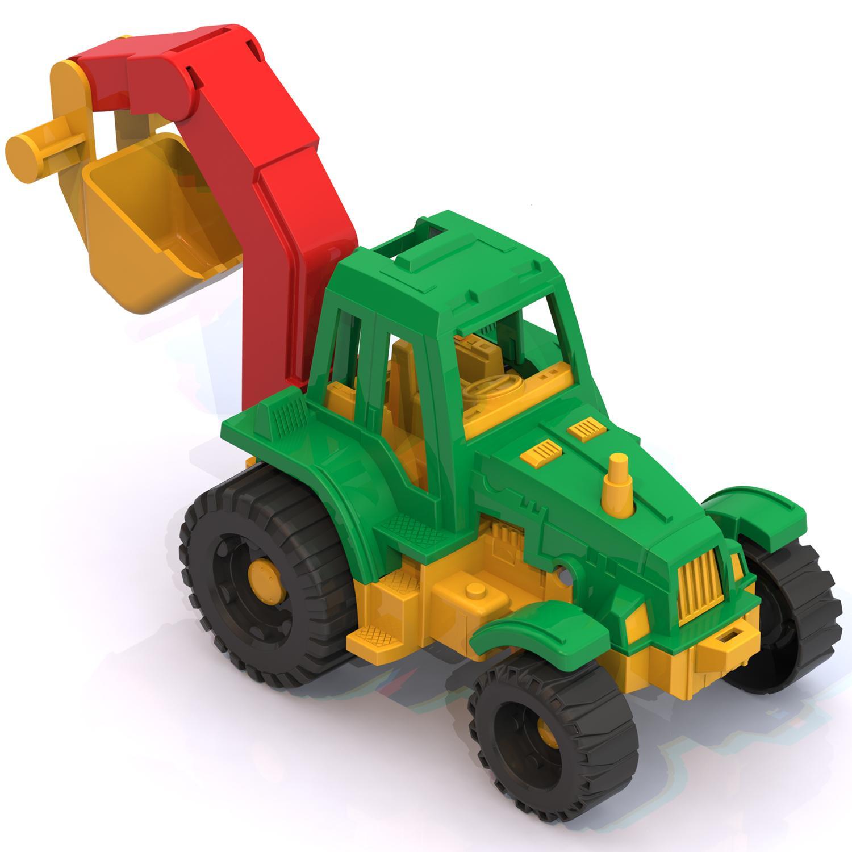 Купить Трактор Ижора с ковшом, размер 13 х 17 х 11 см., Нордпласт