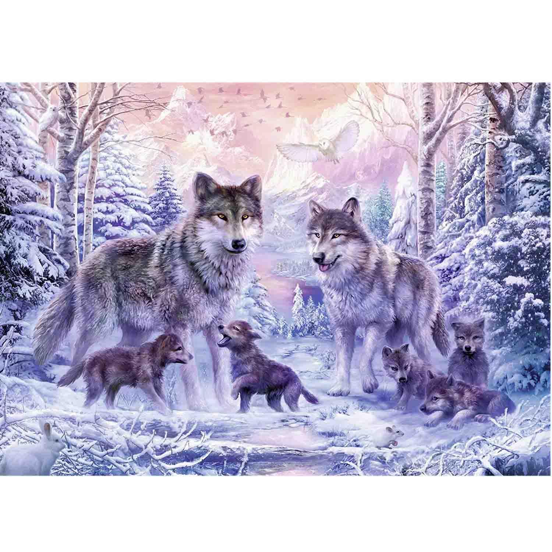 Пазл - Северные волки, 1000 деталей фото