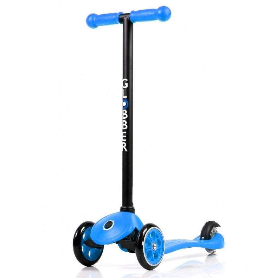 Самокат Globber My free FIXED, голубой, с блокировкой колес  - купить со скидкой