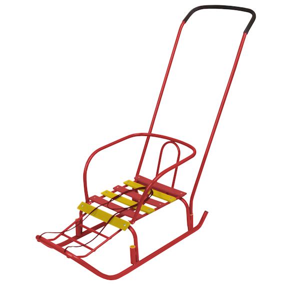 Санки детские Ветерок 3, цвет - красныйСанки и сани-коляски<br>Санки детские Ветерок 3, цвет - красный<br>