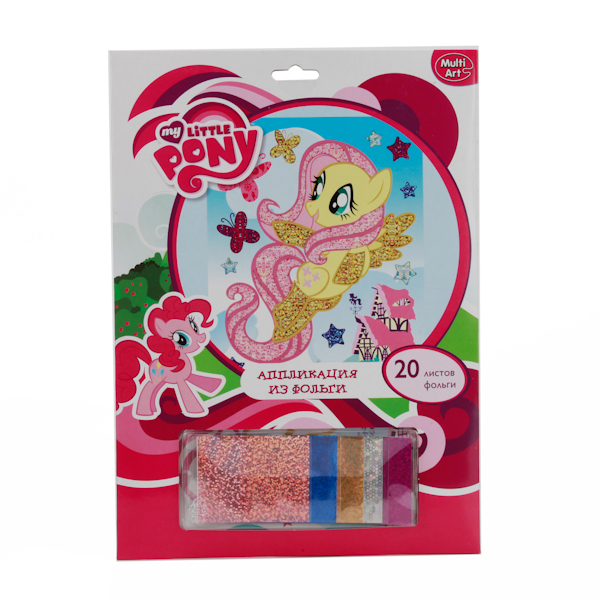 Набор для творчества My Little Pony - Аппликация из фольгиАппликация, пайетки<br>Набор для творчества My Little Pony - Аппликация из фольги<br>