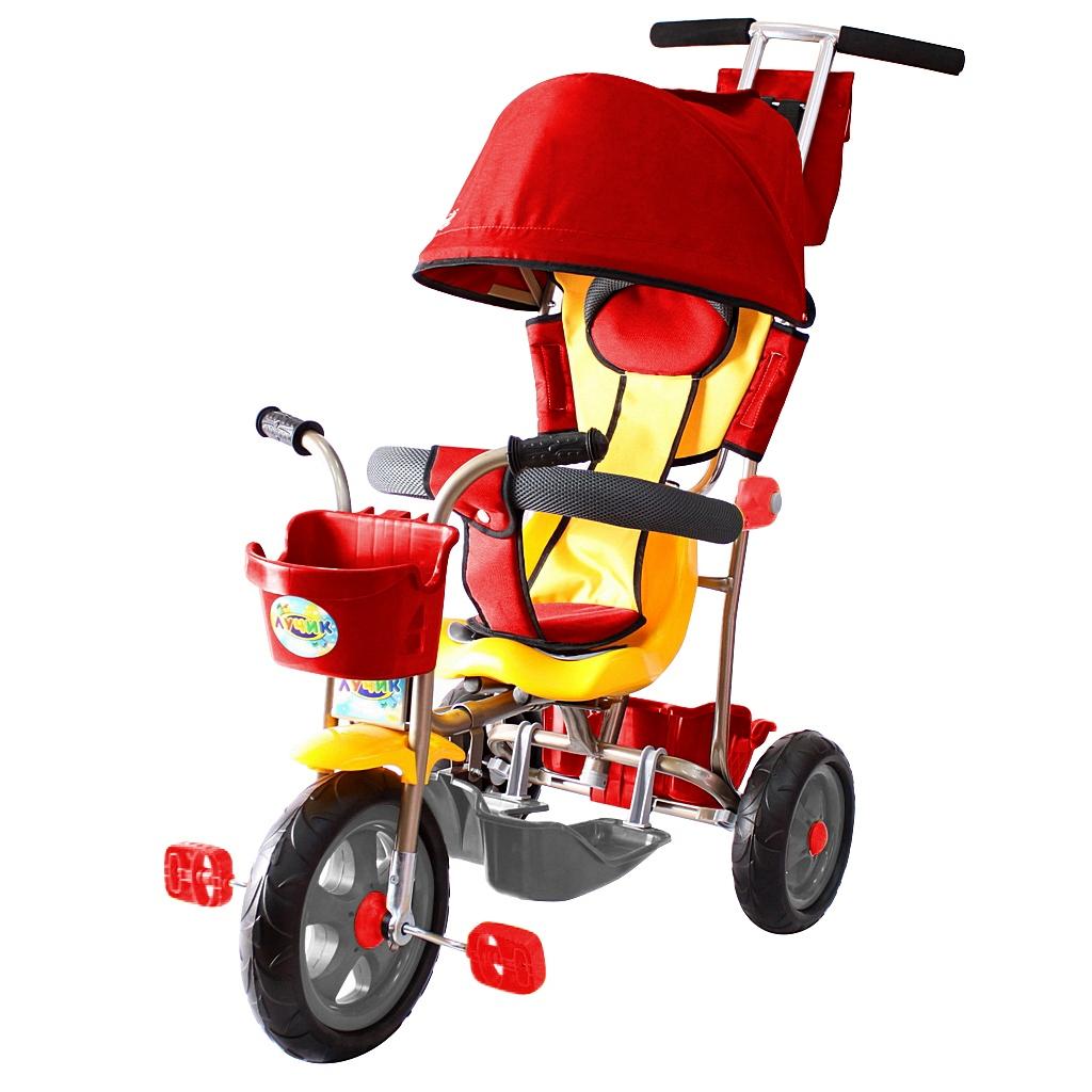 Л001 3-х колесный велосипед Galaxy - Лучик с капюшоном, красный фото