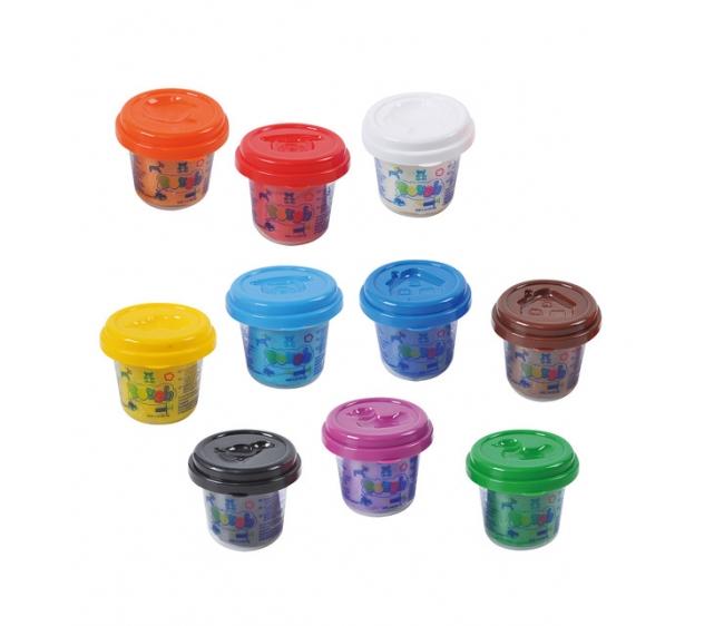 Пластилин, 10 цветовНаборы для лепки<br>Пластилин, 10 цветов<br>