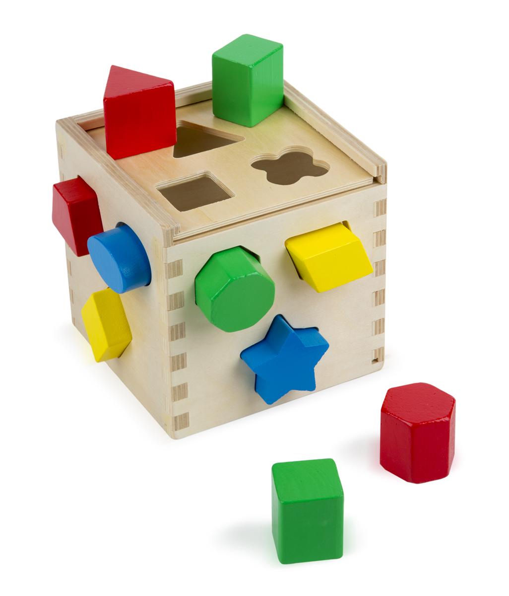 Сортировщик фигур Куб из серии Классические игрушкиСтучалки и сортеры<br>Сортировщик фигур Куб из серии Классические игрушки<br>