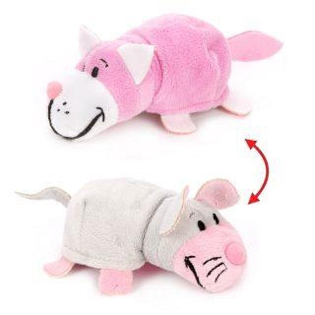 Купить Плюшевая игрушка из серии Вывернушка 2в1 Розовый кот-Мышка, 12 см., 1TOY