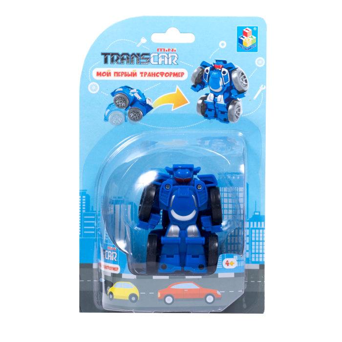 Мой первый трансформер - Робот – суперкар, 6 см, синий фото
