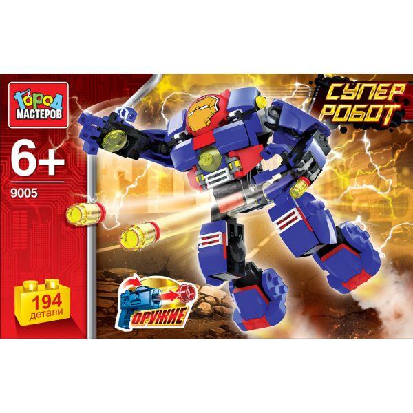 Конструктор – Супер Робот, 194 деталиГород мастеров<br>Конструктор – Супер Робот, 194 детали<br>