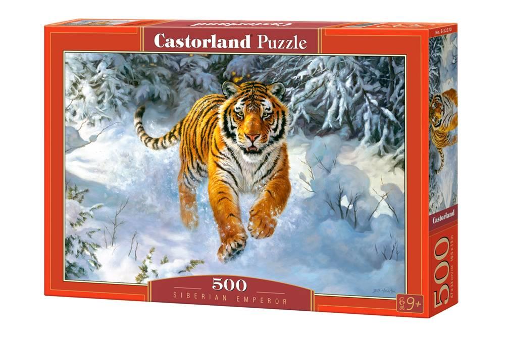 Пазл Castorland 500 деталей Амурский тигрПазлы 500 элементов<br>Пазл Castorland 500 деталей Амурский тигр<br>