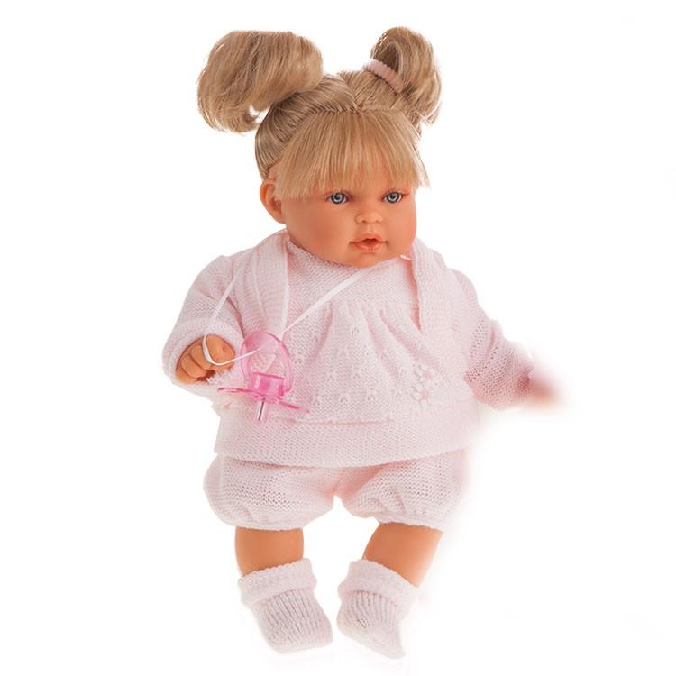 Кукла Лана блондинка, плачет, 27 смКуклы Антонио Хуан (Antonio Juan Munecas)<br>Кукла Лана блондинка, плачет, 27 см<br>