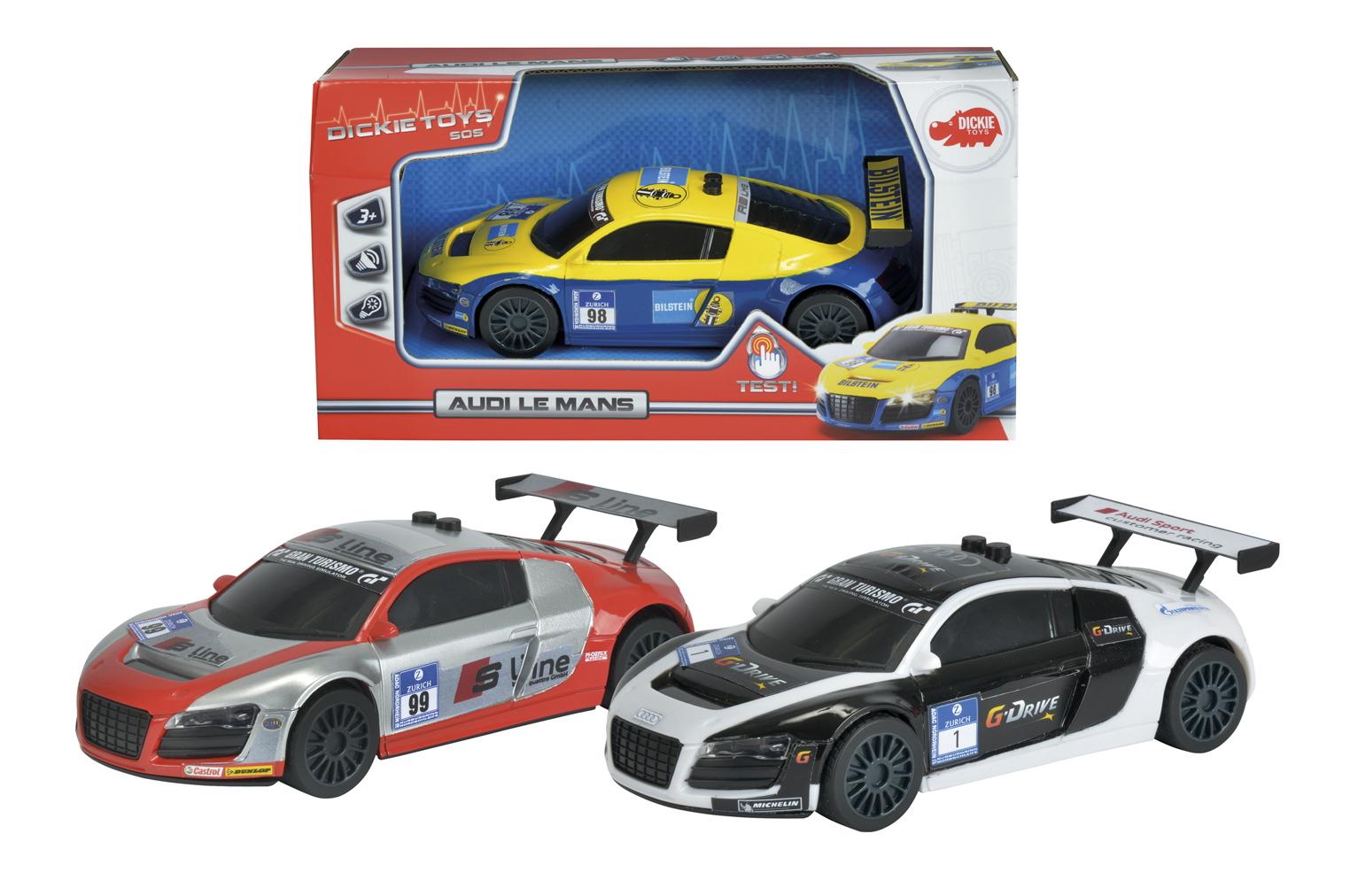 Гоночная машина Audi Le Mans, 19 см., масштаб 1:24, 3 видаAudi<br>Гоночная машина Audi Le Mans, 19 см., масштаб 1:24, 3 вида<br>