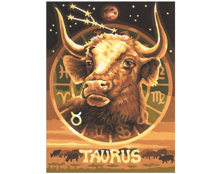 Купить Раскраска по номерам «Знаки Зодиака Телец», 18 х 24 см., Schipper