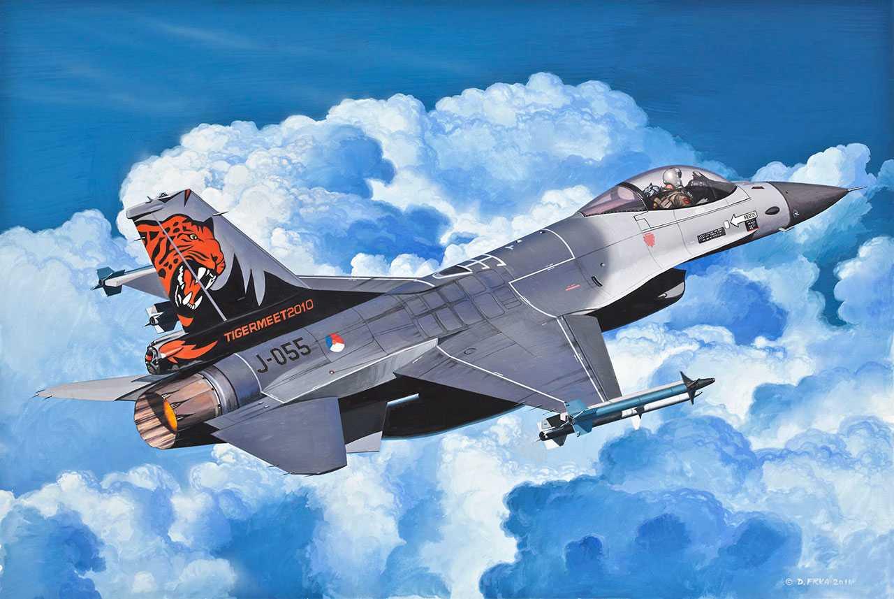Сборная модель - Самолет истребитель F-16 Fighting FalconМодели самолетов для склеивания<br>Сборная модель - Самолет истребитель F-16 Fighting Falcon<br>
