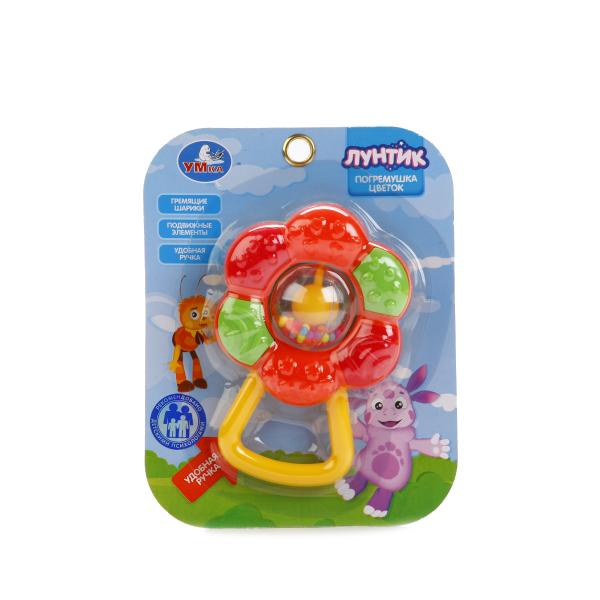 Погремушка-цветок ЛунтикДетские погремушки и подвесные игрушки на кроватку<br>Погремушка-цветок Лунтик<br>
