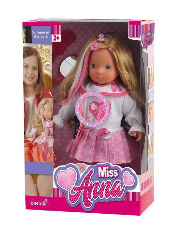 Купить Кукла из серии Bambina Bebe - Miss Anna, 40 см, светящиеся волосы и звуковые эффекты, DIMIAN