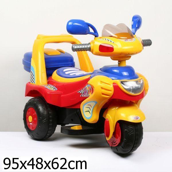 Электромотоцикл - Bugati, свет и звукМотоциклы детские на аккумуляторе<br>Электромотоцикл - Bugati, свет и звук<br>