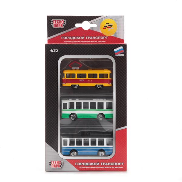 Набор из 3х машин «Городской транспорт»Автобусы, трамваи<br>Набор из 3х машин «Городской транспорт»<br>
