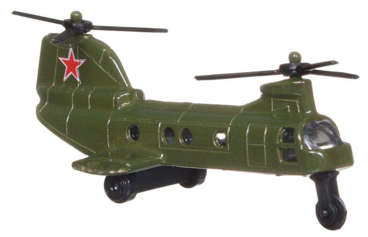 Коллекционная металлическая модель - Вертолет 7,5 смВоенная техника<br>Коллекционная металлическая модель - Вертолет 7,5 см<br>