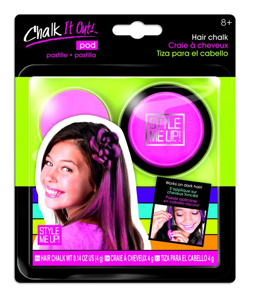 Набор Style Me Up - Радужный мелок для волос, розовыйЮная модница, салон красоты<br>Набор Style Me Up - Радужный мелок для волос, розовый<br>