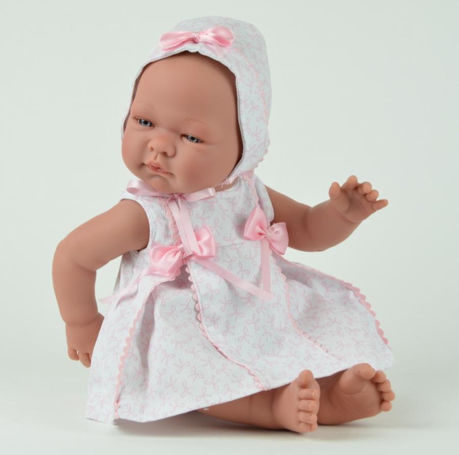Кукла Мария в розовом платьице и чепчике, 45 см.Куклы ASI (Испания)<br>Кукла Мария в розовом платьице и чепчике, 45 см.<br>