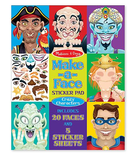 Купить Набор стикеров - Лица - безумные герои из серии Творчество, Melissa&Doug