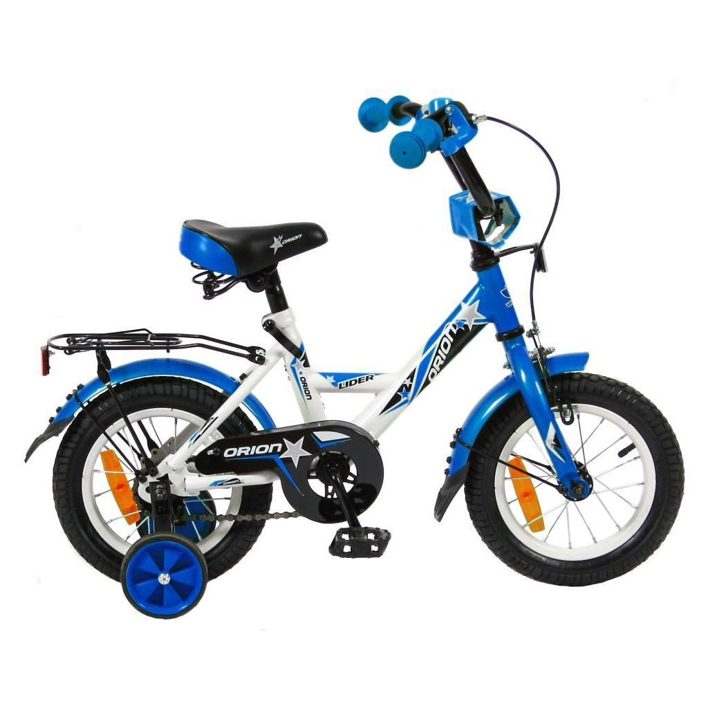 Двухколесный велосипед Lider Orion диаметр колес 12 дюймов, белый/синийВелосипеды детские<br>Двухколесный велосипед Lider Orion диаметр колес 12 дюймов, белый/синий<br>