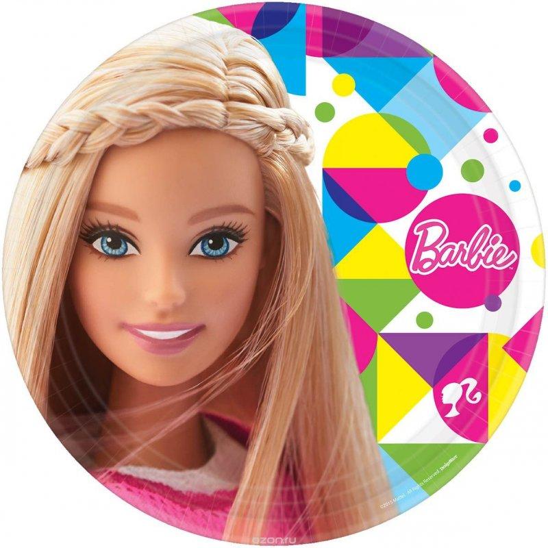 Купить Набор тарелок Барби 23 см, 8 штук, Amscan