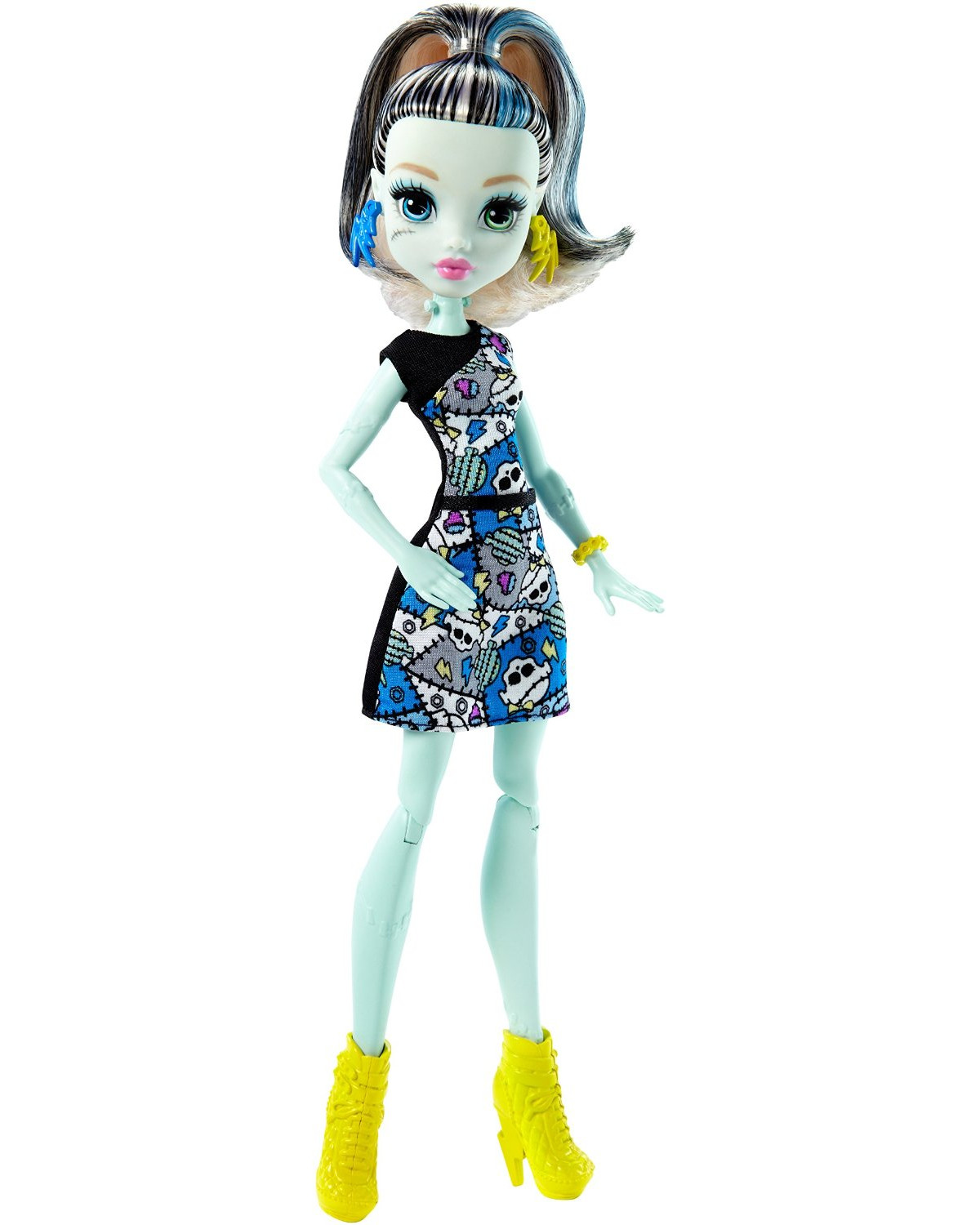 Кукла Monster High - Фрэнки Штейн, 27 смКуклы Ever After High и Monster High<br>Кукла Monster High - Фрэнки Штейн, 27 см<br>