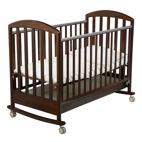 Детска кроватка-качалка Джованни, орех шоколадныйДетские кровати и мгка мебель<br>Детска кроватка-качалка Джованни, орех шоколадный<br>