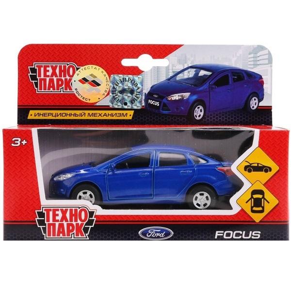 Купить Машинка металлическая инерционная – Ford Focus синий, 12 см., открываются двери и багажник -WBsim), Технопарк