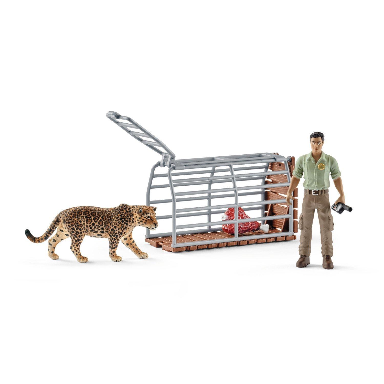 Купить Игровой набор - Рейнджер и ловушка для диких животных, Schleich
