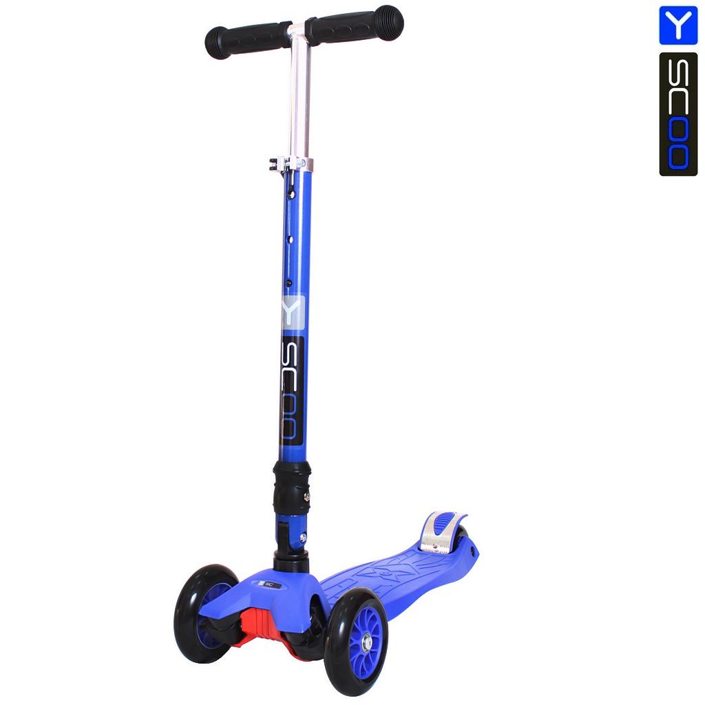 Самокат Y-Scoo 35 Maxi Fix Simple, темно-синийТрехколесные самокаты<br>Самокат Y-Scoo 35 Maxi Fix Simple, темно-синий<br>