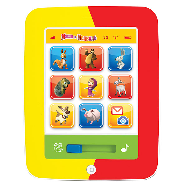 Интерактивная игрушка  Маша и медведь    Мой первый планшет  - Детский обучающий компьютер, артикул: 125509