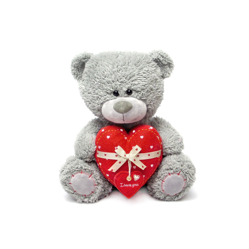 Мягкая игрушка - Медвежонок Дэнни с сердцем, музыкальный, 24 смГоворящие игрушки<br>Мягкая игрушка - Медвежонок Дэнни с сердцем, музыкальный, 24 см<br>