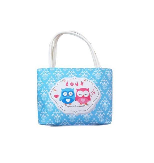 Купить Сумочка для девочки Совушки, голубая, 23 см., Msn Toys & Bicycle