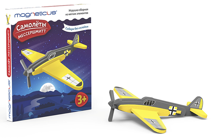Купить Сборная модель из мягких элементов – Самолеты. Мессершмитт, MAGNETICUS